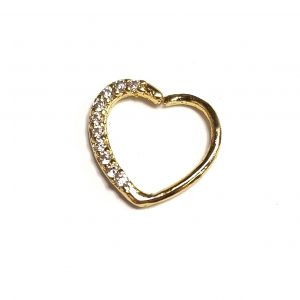 Heart with Gems Perfect for Daith / Rook