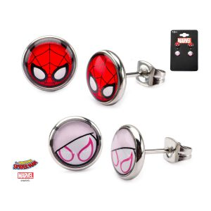 Spider-Gwen & Spider-Man Earring Double Set